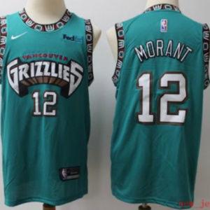 Memphis Grizzlies #12 Ja Morant Jersey stitched